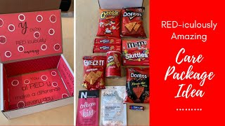 Care Package Ideas: Red Themed, RED-iculously Amazing