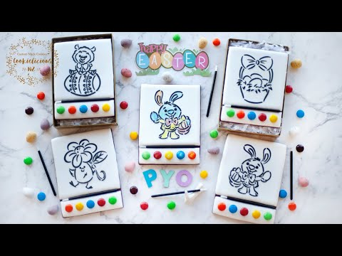 How to make PAINT-YOUR-OWN (PYO) Cookies for EASTER