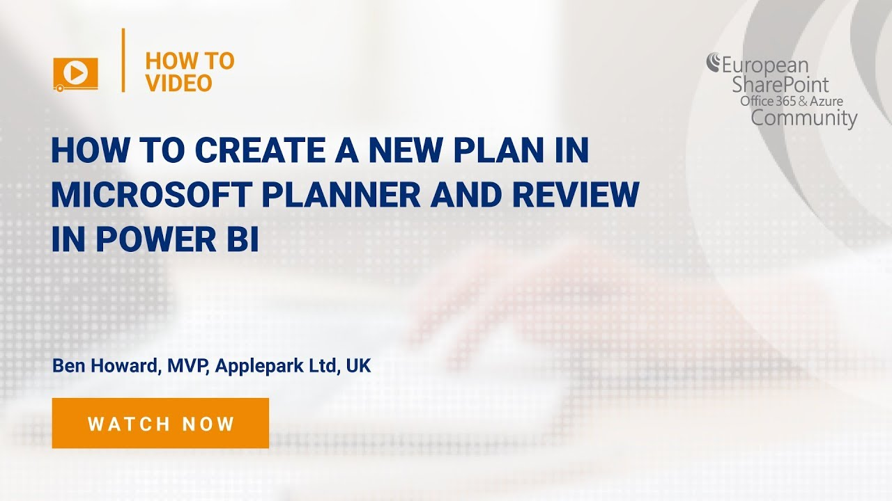 How to Create a New Plan in Microsoft Planner and review in Power BI