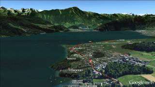 preview picture of video 'SwissCityMarathon - Lucerne: Streckenflug / Flight over race course'
