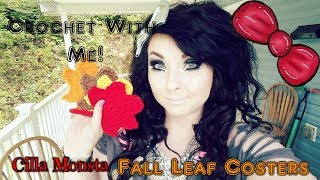 Crochet With Me!: Fall Leaf Coasters