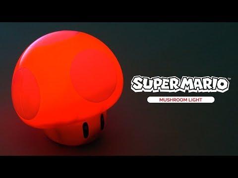 Mini Lampka Super Mario - Mushroom (z dźwiękiem)