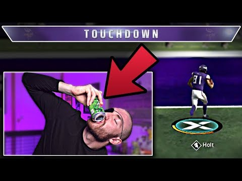 I have to shotgun a Mtn Dew every time I score | Madden 20 Challenge