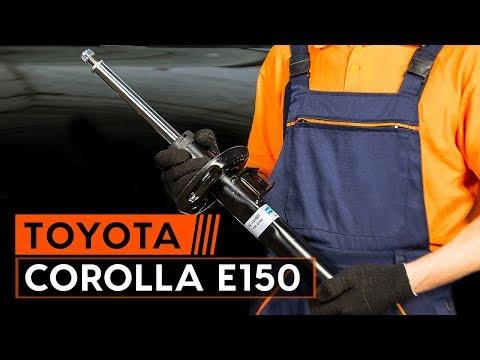 Wie TOYOTA СOROLLA E150 Limousine Stoßdämpfer vorne wechseln [TUTORIAL AUTODOC]