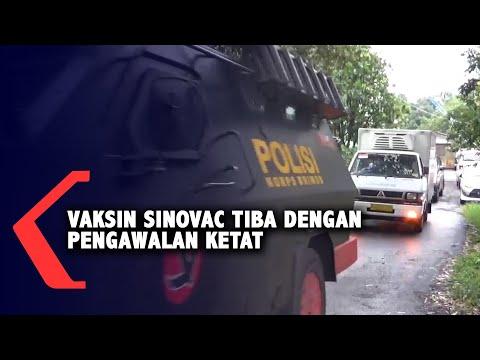 Dikawal Ketat, Vaksin Sinovac Tiba di Kota Batu