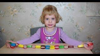Новогодняя гирлянда из цветной бумаги своими руками в виде цепи. Простая поделка для детей.