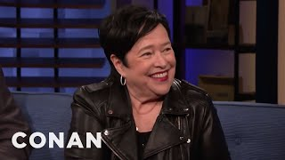"On Conan, Kathy Bates shared how she almost turned down her Waterboy role, revealing, ""I was in my bed and I read the first 12 pages [of the script] and I thought, 'Oh, this is a piece of shit.'...and so I threw it away. And my niece who works for me, she came in and she said, 'What is this?' and I said, 'Oh, some stupid script they sent me.' And she pulled it out and she said, 'ADAM SANDLER?!' and I said, 'Who is that?' And she said, 'Don't you know ""The Hanukah Song"" from Saturday Night Live?' So, she made me do the movie! And, we had so much fun. We had a blast."""