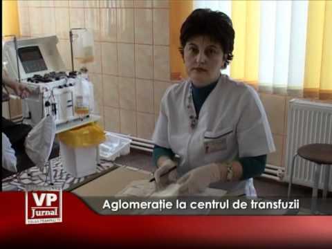 Aglomeraţie la centrul de transfuzii