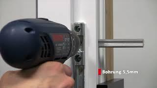 Montage ABUS FAS101 Scharnierseitensicherung zur Fenstersicherung