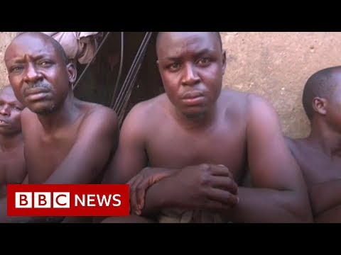 Men and boys chained up at Nigeria Islamic 'school' - BBC News