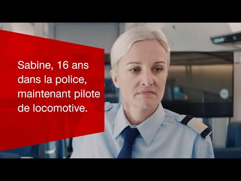 Sabine, 16 ans dans la police, maintenant pilote de locomotive.