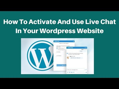 How to activate and use live chat in your wordpress website