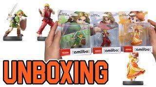 Super Smash Bros Series Amiibo Ken / Daisy / Young Link Unboxing!!