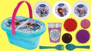 Disney Frozen 2 Lunch Basket Kitchen Playset with OLAF, Princess Anna & Elsa, Play-doh