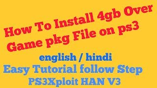 PS3Xploit v3 install PKG Over 4GB - Video hài mới full hd hay nhất