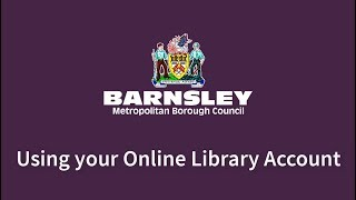 Using Your Online Library Account