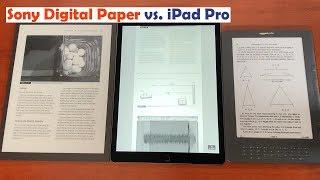Sony DPT RP1 Digital Paper Vs  IPad Pro 12.9  Vs  Kindle DX Comparison
