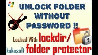 Easiest Way to Unlock Folder Locker Which is Locked with Lockdir   Bangla Tutorial   Tech Times BD