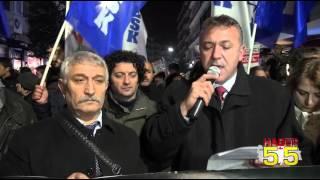 ANKARA VE SURUÇ KATLİAMLARI SAMSUN'DA PROTESTO EDİLDİ...!