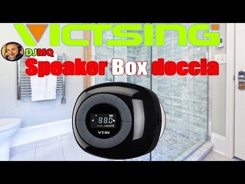 🎬SPEAKER►Vtin Portatile impermeabile speaker radio fm bluetooth display lcd (Recensione ITA)