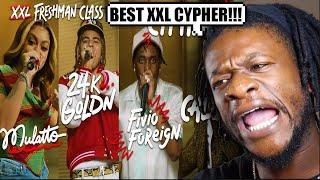 Fivio Foreign, Calboy, 24kGoldn and Mulatto's 2020 XXL Freshman Cypher (REACTON)