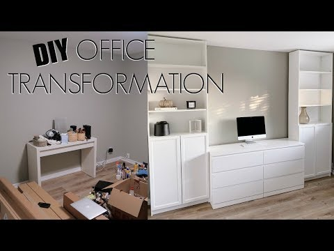 DIY APARTMENT FRIENDLY OFFICE TRANSFORMATION | Marie Jay