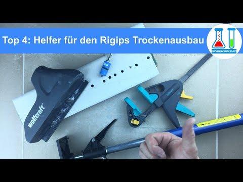 Trockenausbau Tipps: Nützliche Helfer für Rigips / Gipskarton an Wand und Decke - Deutsch