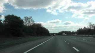 preview picture of video 'Driving On The M57 Motorway From J6 Fazakerley To J1 Huyton, Merseyside, England'