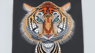 Dotted Animal Painting: Tiger