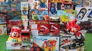 Toy Cars, Buses, Motorbikes, Fire & Trains - Learn and Play