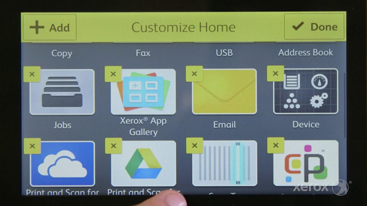 Xerox VersaLink Quick Tip: Customize Your Home Screen YouTube Video