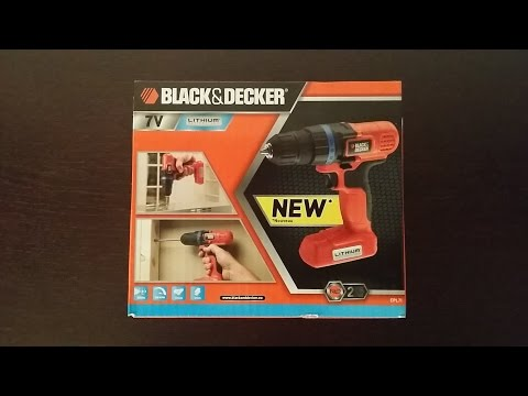 Black and decker epl7i drill 7v unboxing review
