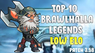 Top 10 Best Legends in Brawlhalla for LOW ELO - Patch 3.58