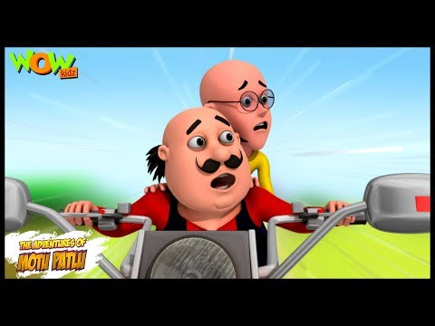 Motu Patlu Cartoons In Hindi |  Animated cartoon | Mobike ride | Wow Kidz