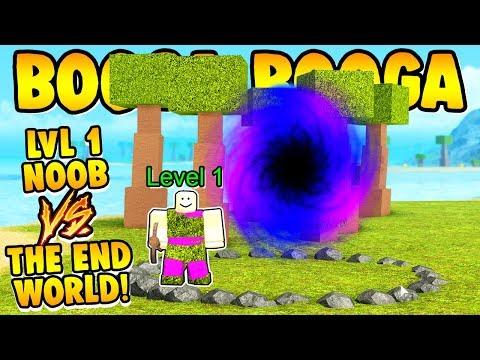 Booga Booga LEVEL 1 NOOB VS THE END DIMENSION!!!
