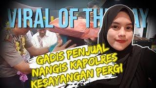 VIRAL HARI INI: Gadis Kecil Penjual Kue Nangis Kapolres Kesayangan Pergi, 'Dewa Penolong' sang Bocah