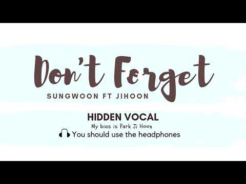 Don't Forget- Ha Sungwoon Ft Park Jihoon HIDDEN VOCAL