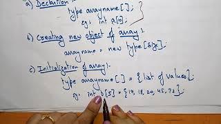 Arrays | Declare , Create & Initialisation | 1-D & 2-D | Data Structures| Lec-6 | Bhanu Priya