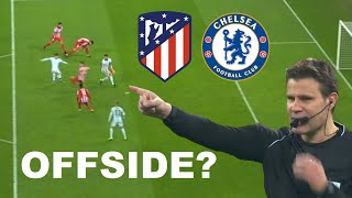 Giroud Not Offside? Bicycle Kick Goal | Analysis: Atletico Madrid 0-1 Chelsea (Hermoso Assist)