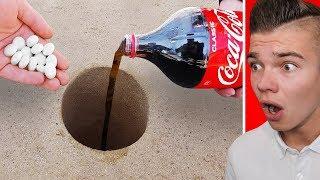 EKSPERYMENT: MENTOSY vs COCA COLA pod ziemią!