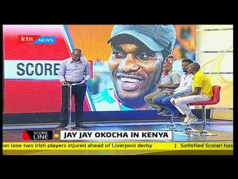 Scoreline: Nigerian soccer star Jay jay Okocha in Kenya