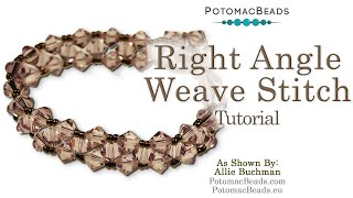 Right Angle Weave Instructions (RAW)- DIY Jewelry Making Tutorial By PotomacBeads