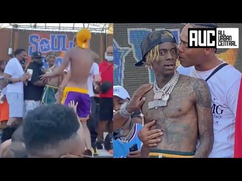 Soulja Boy Almost Puts The Beats On Fan At Concert Until Homie Calms Him Down