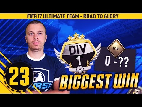 FIFA 17 MY BIGGEST DIVISION 1 WIN #23 - HOW TO WIN GAMES IN DIVISION 1 / BEST ULTIMATE TEAM GAMEPLAY