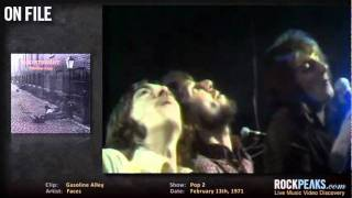"Faces - ""Around The Plynth"" and ""Gasoline Alley"" - French TV, RockPeaks Daily Vlog, 2011 03-11"