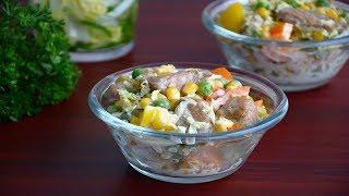 Салат из индейки с пекинской капустой