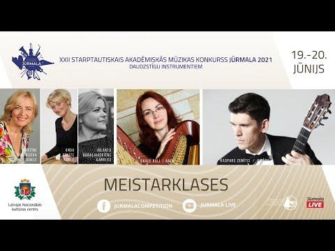 """XXII Starptautiskais akadēmiskās mūzikas konkurss """"Jūrmala 2021″/ MEISTARKLASES – arfa"""