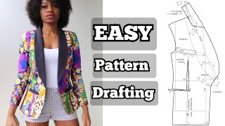 How To Draft A Shawl Collar JACKET Pattern | Blazer Pattern | Coat Pattern
