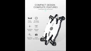 Ultrathin Wifi FPV Selfie Drone 720P Camera Auto Foldable Arm Altitude Hold RC Quadcopter