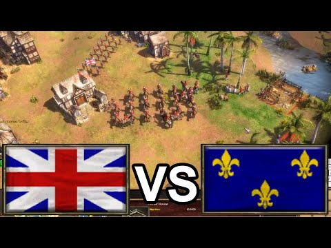 Close until the end! IamSoldieR plays the British! [Age of Empires 3]